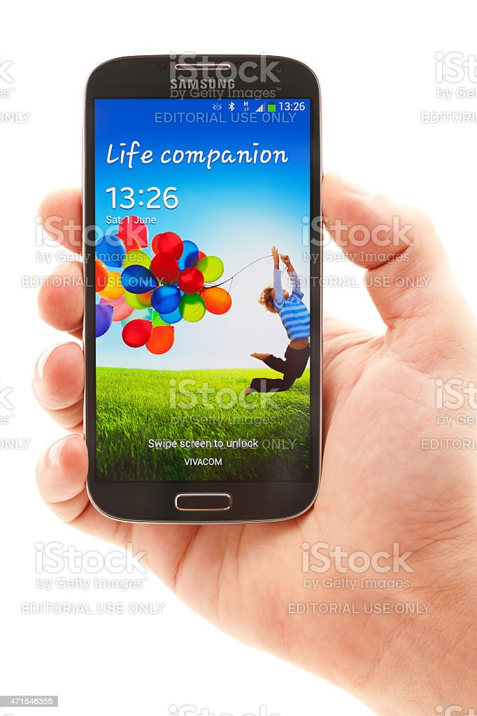 Samsung Galaxy S4 royalty-free stock photo