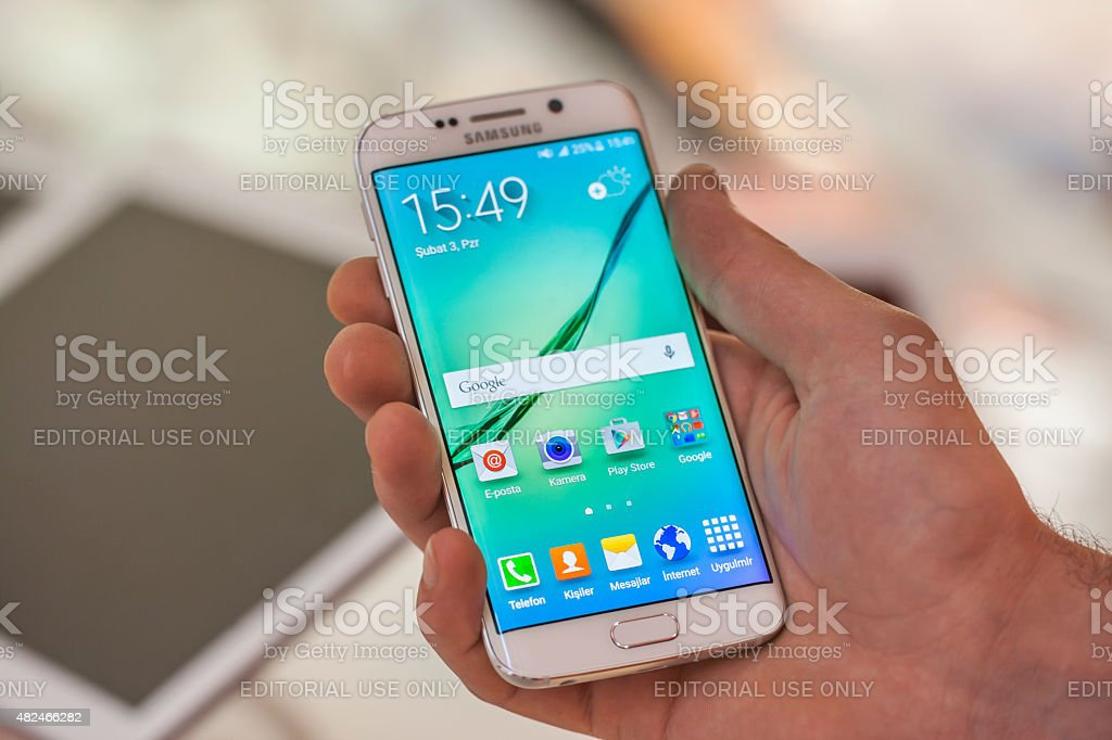 Samsung Galaxy S6 Touch in der hand. – Foto