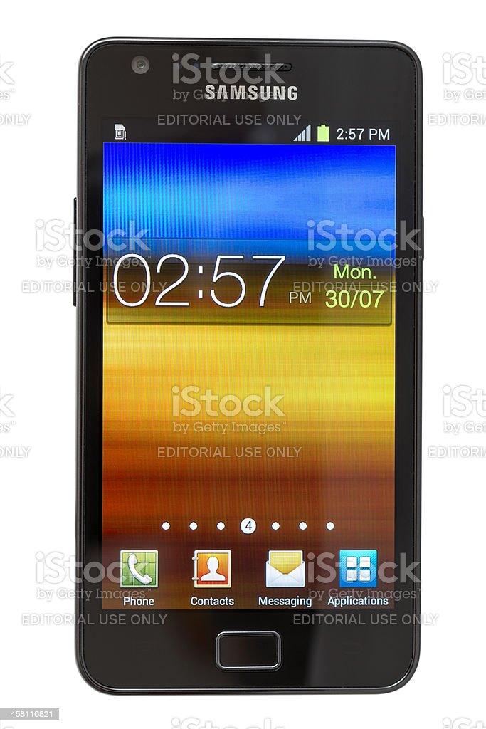 Samsung Galaxy SII royalty-free stock photo