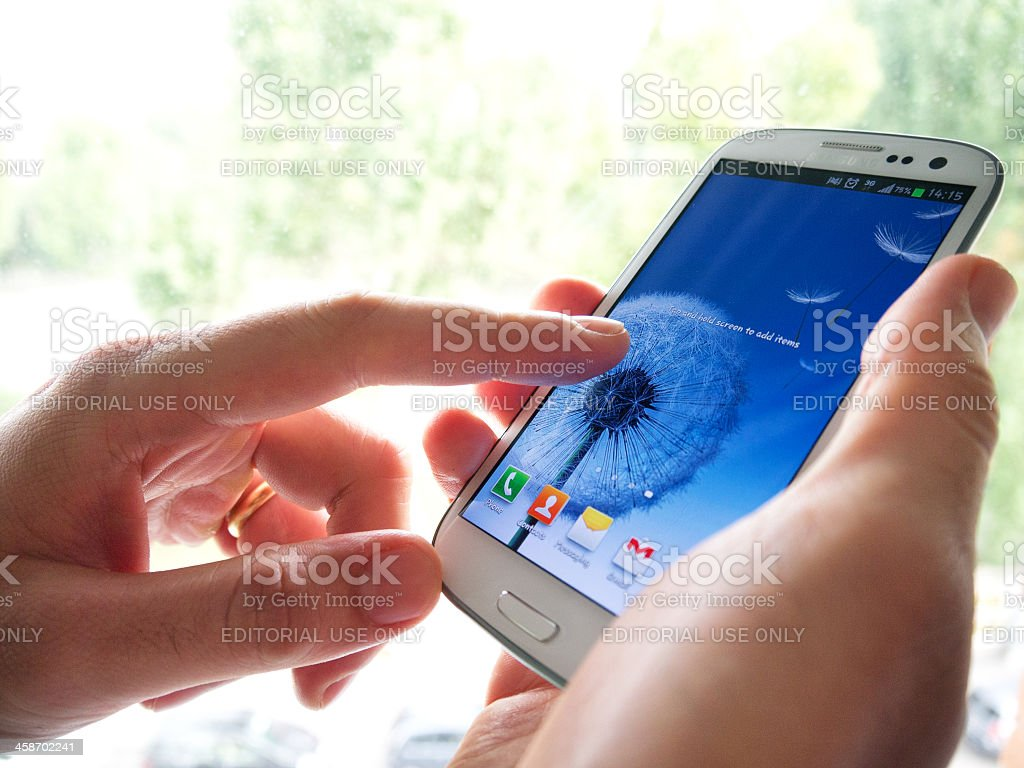 Samsung Galaxy SIII stock photo