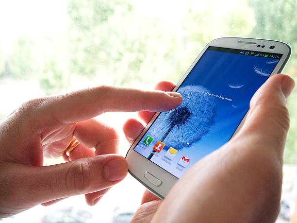 samsung galaxy siii - cyborg stock photos and pictures