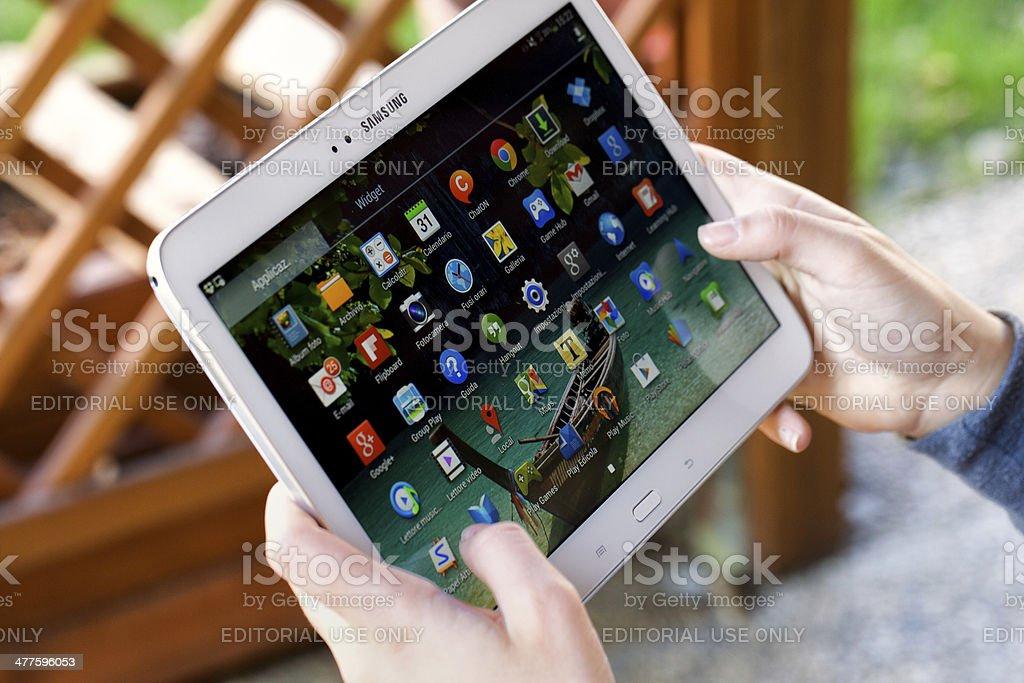 Samsung Galaxy Tab 3 stock photo