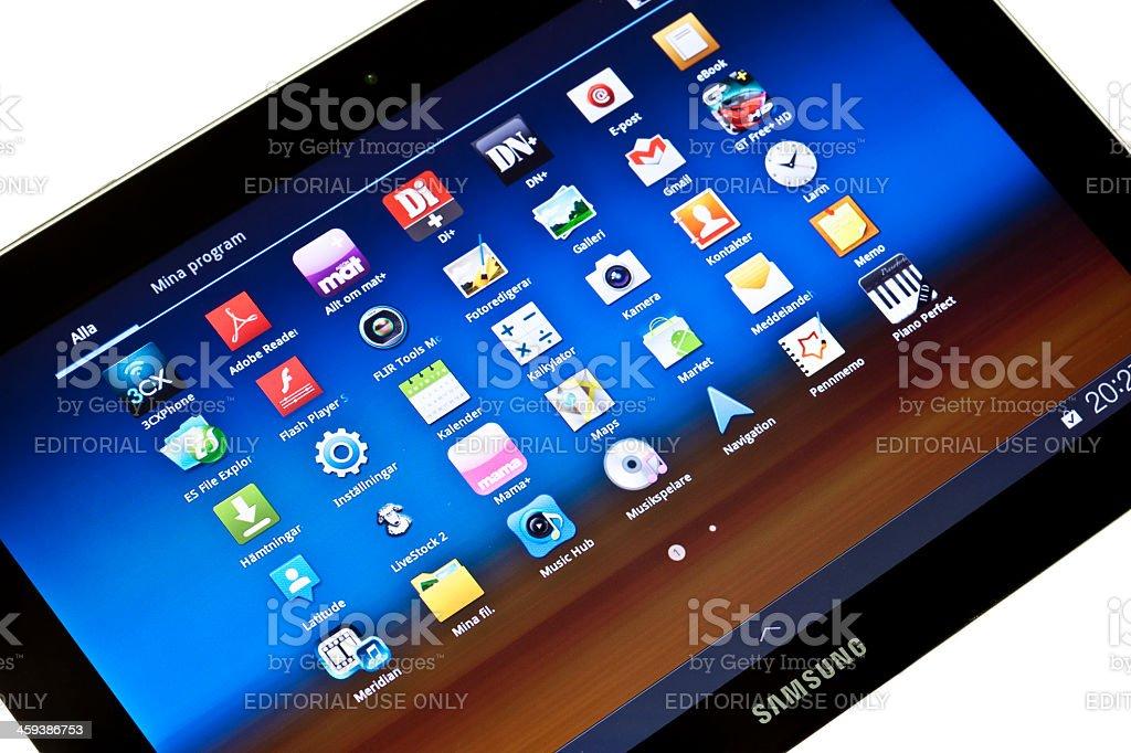 Samsung Galaxy Tab royalty-free stock photo