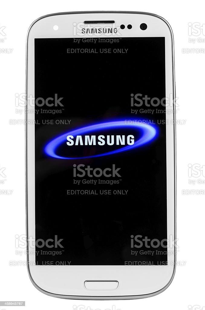 Samsung I9300 Galaxy SIII isolated on white stock photo