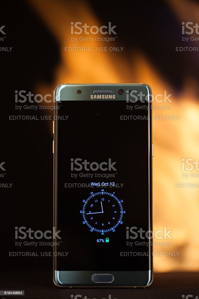 Samsung Note 7 Recall stock photo