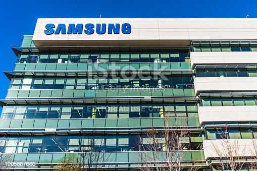 Feb 6, 2020 Mountain View / CA / USA - Samsung Research America campus in Silicon Valley; Samsung is a South Korean multinational conglomerate