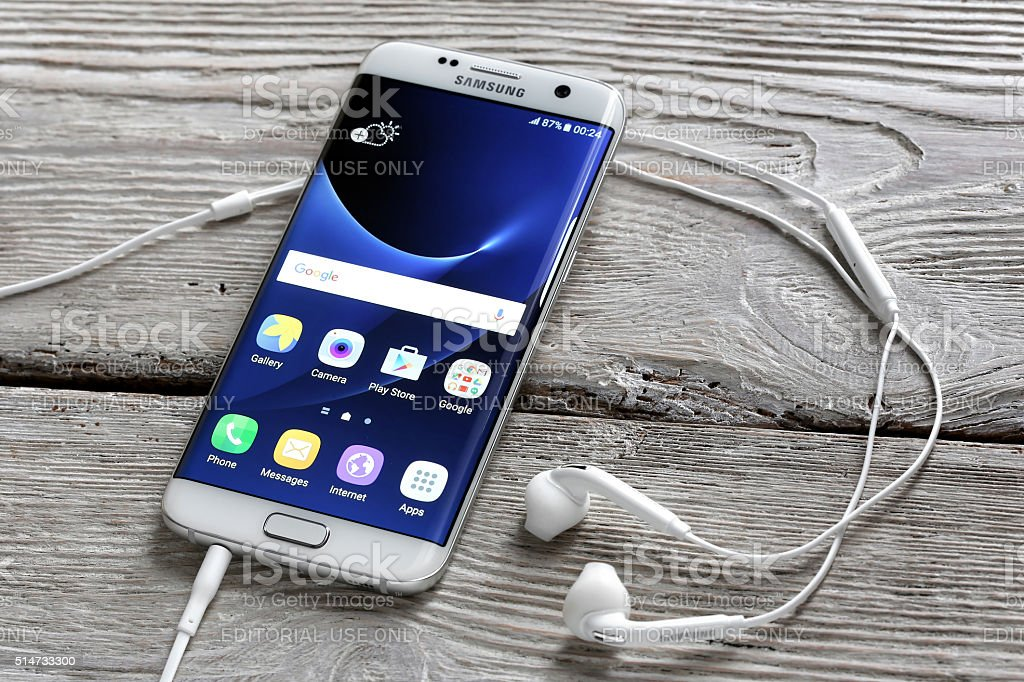 Samsung S7 Edge stock photo