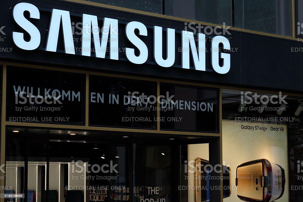 Samsung Shop Frankfurt (Front) stock photo