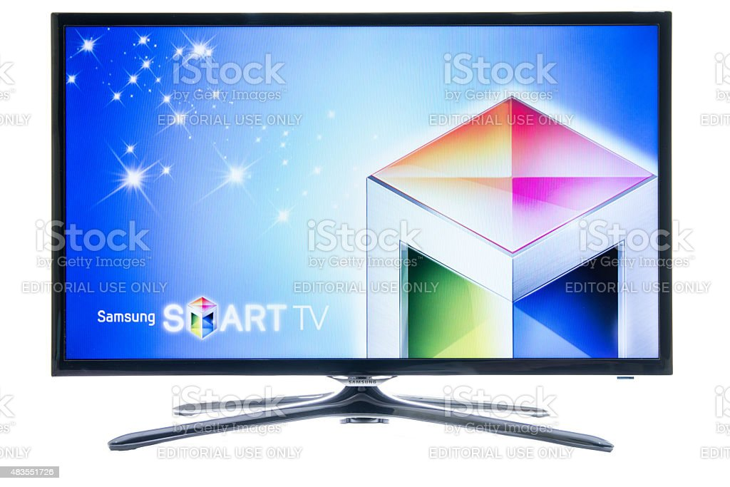 Samsung smart TV logo stock photo