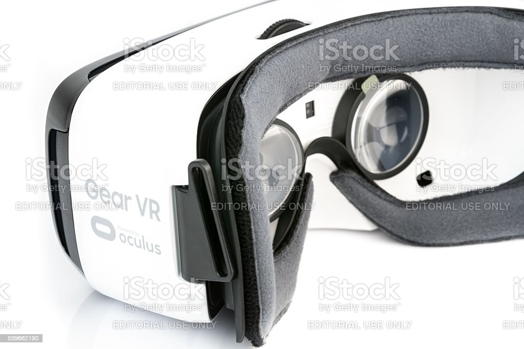 2814cdd0227 Samsung VR Oculus Virtual reality Goggles Headset royalty-free stock photo
