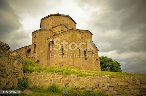 Mtskheta, Georgia - May 2018: Samtavro Monastery in Mtskheta, Mtskheta-Mtianeti, Georgia. It is part of the World Heritage Site - Historical Monuments of Mtskheta