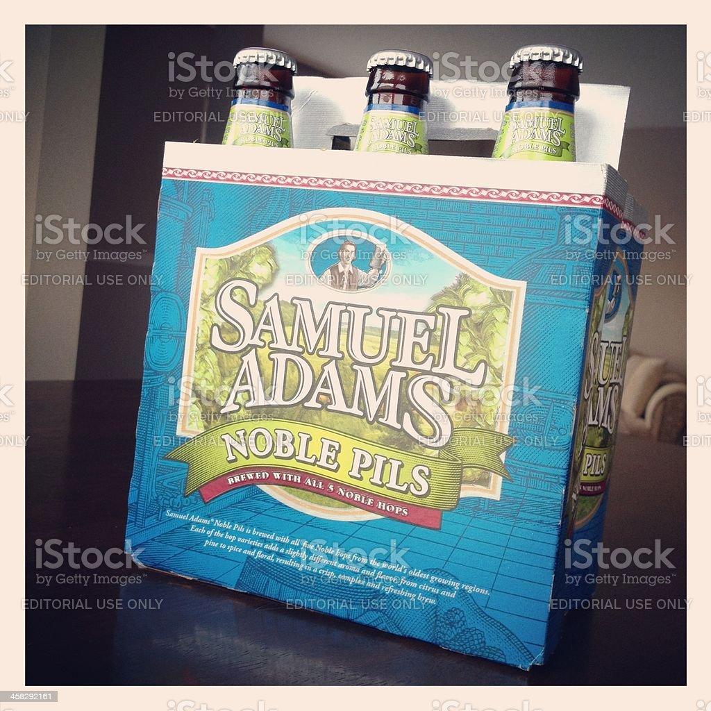 Samuel Adams Noble Pils Beer royalty-free stock photo