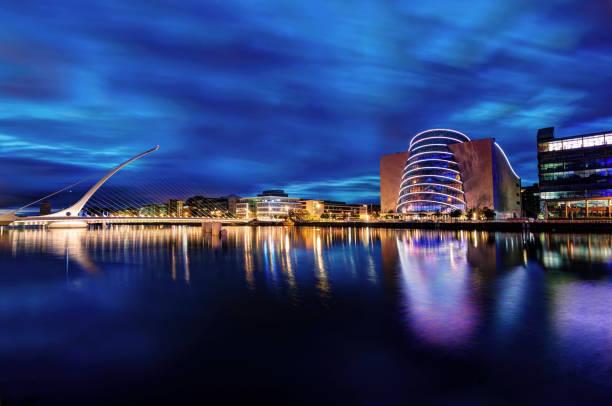 Samuel Beckett Bridge Dublin, Ireland stock photo