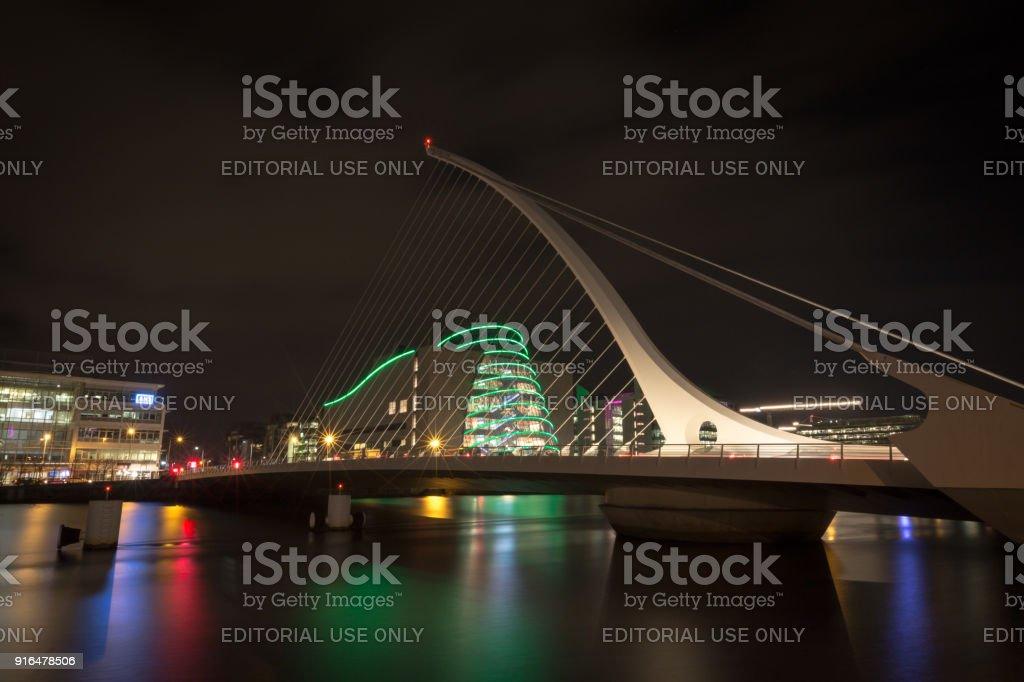 Samuel Beckett Bridge, Dublin, Ireland stock photo