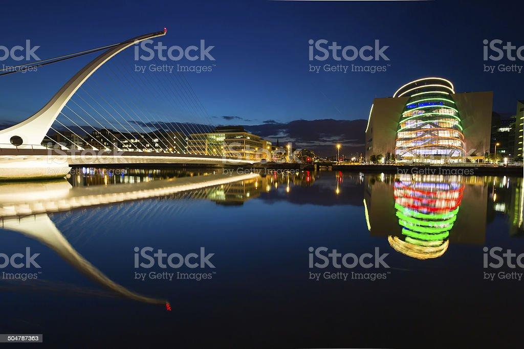 Samuel Beckett Bridge Dublin stock photo