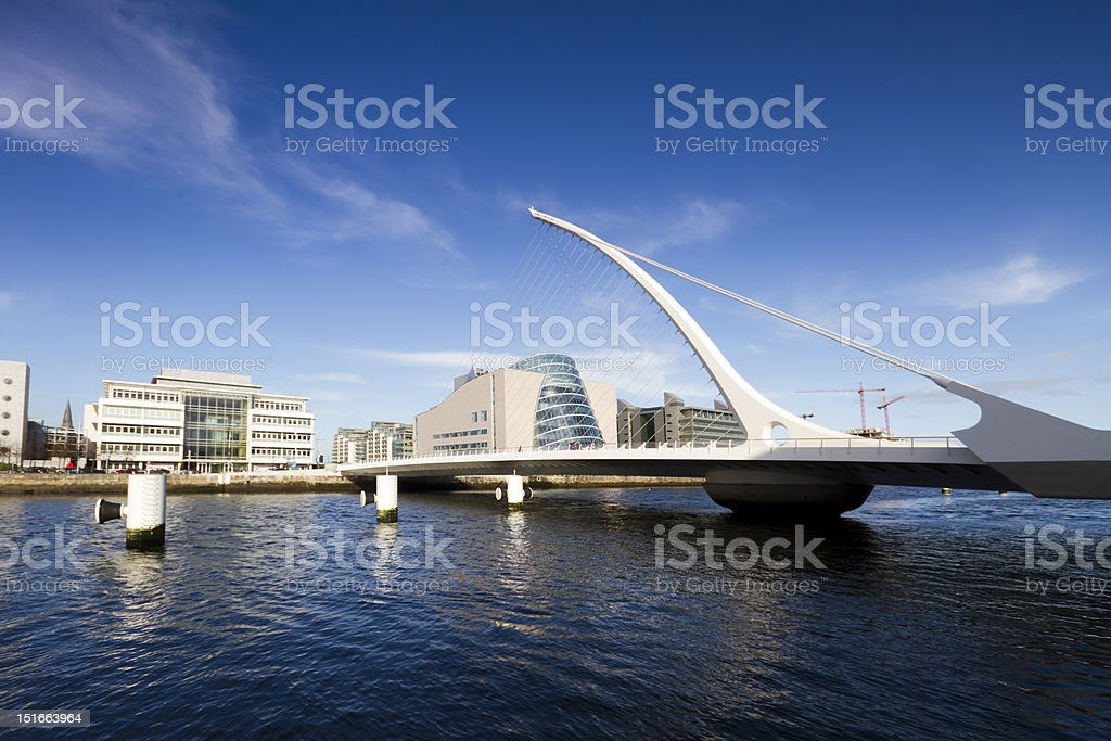 Samuel Beckett bridge royalty-free stock photo