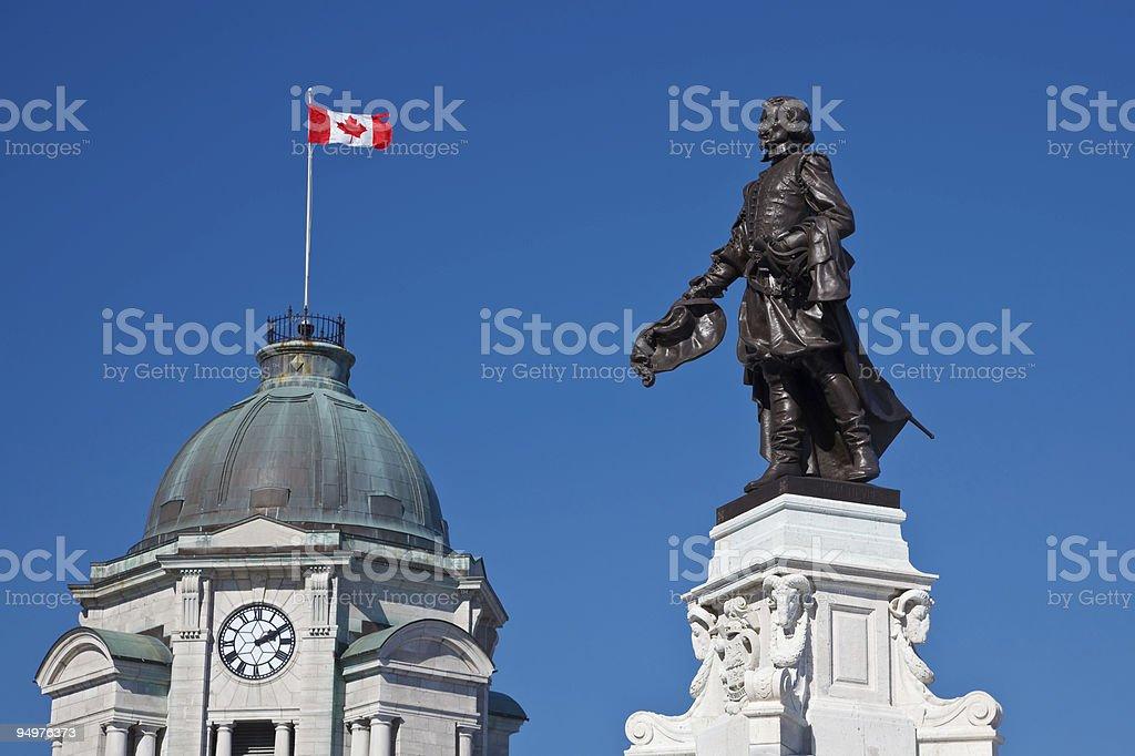 Samuel De Champlain Monument royalty-free stock photo