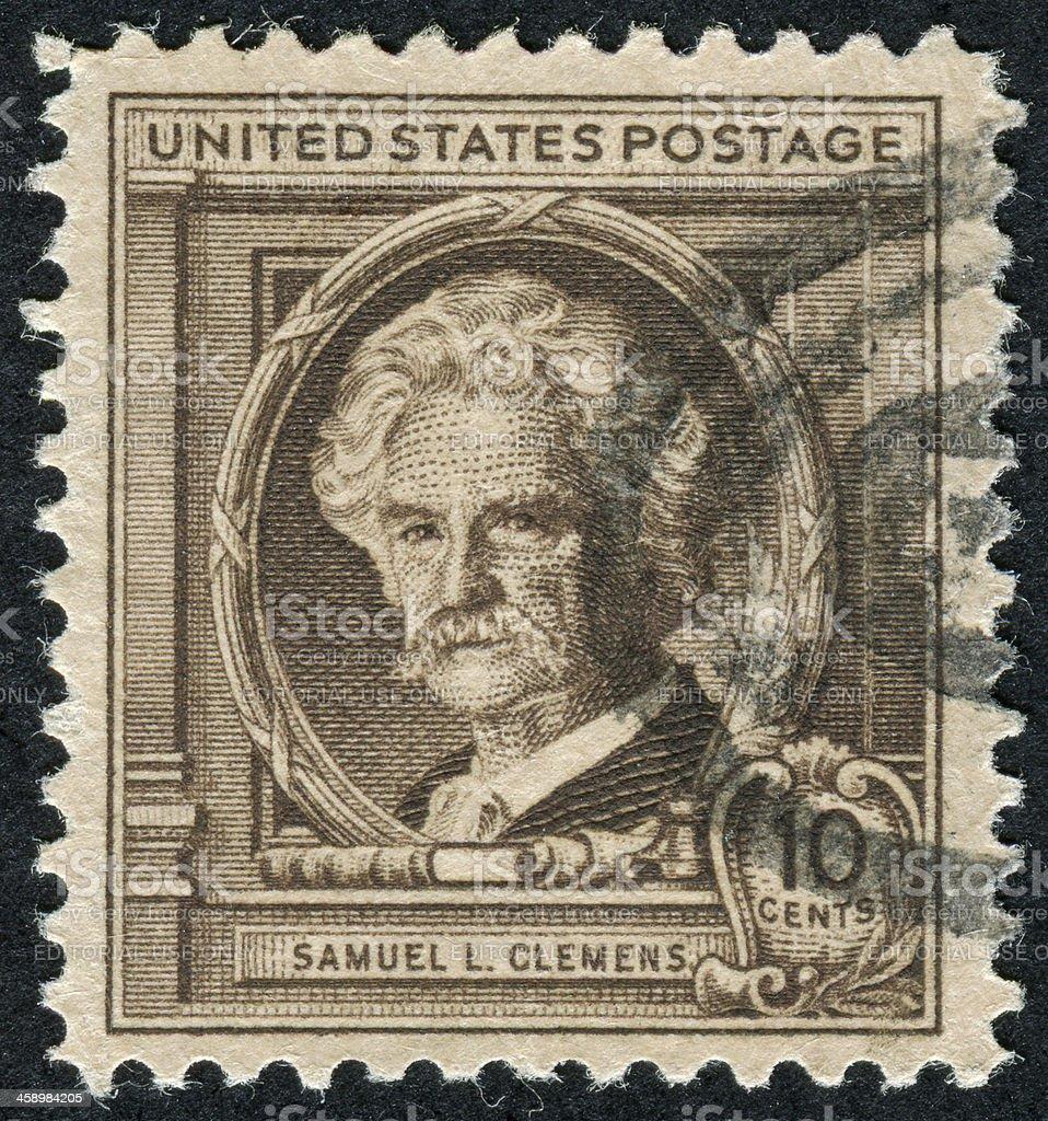 Samuel L. Clemens Stamp stock photo
