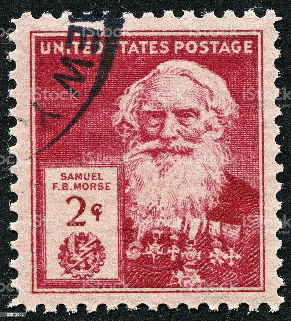 Samuel Morse Stamp royalty-free stock photo