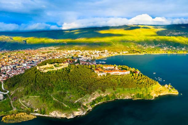 Samuels Festung und Plaosnik bei Ohrid in Nordmakedonien – Foto