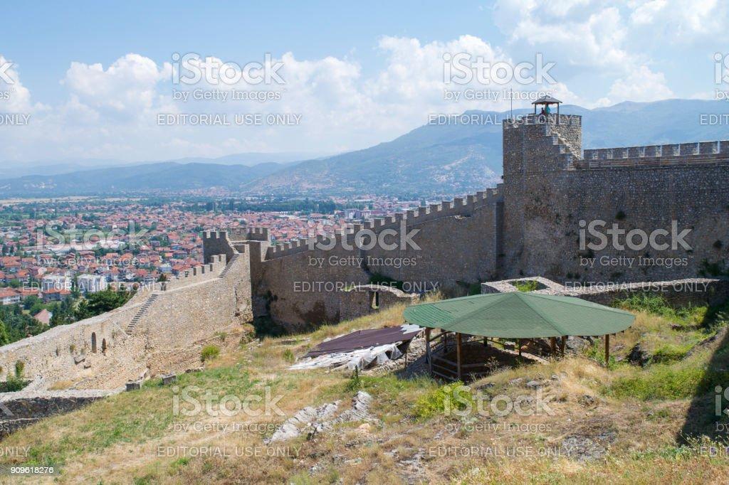 Samuel's Fortress Ohrid stock photo