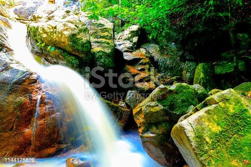 samui waterfall : tan rua waterfall at koh samui,surat thani province Thailand