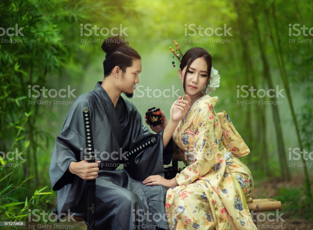 Samurai And Geisha Stock Photo Download Image Now Istock