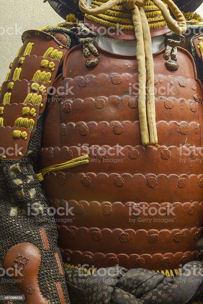Samurai armour, Japan. stock photo