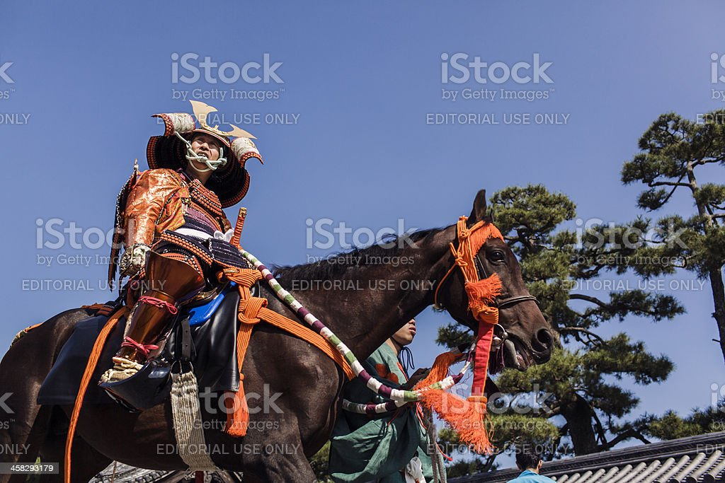 Samurai at the Jidai Matsuri festival in Kyoto stock photo