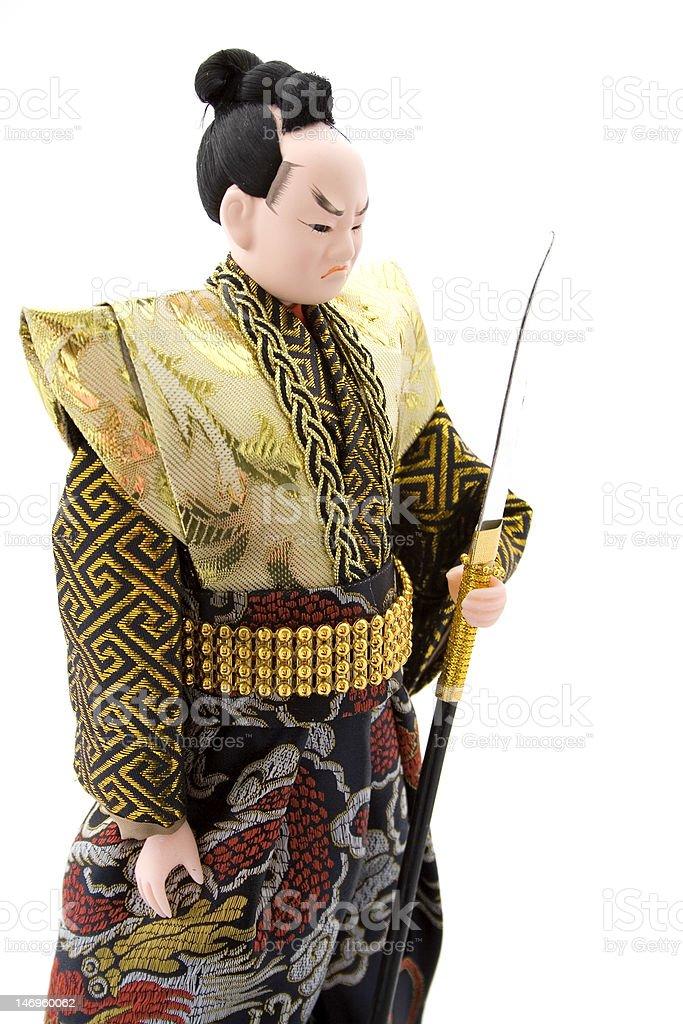 Samurai Doll stock photo