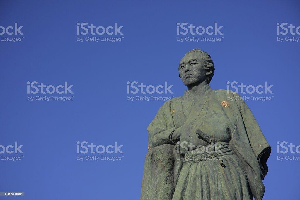 Samurai Statue stock photo