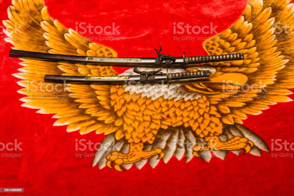 Samurai Swords stock photo