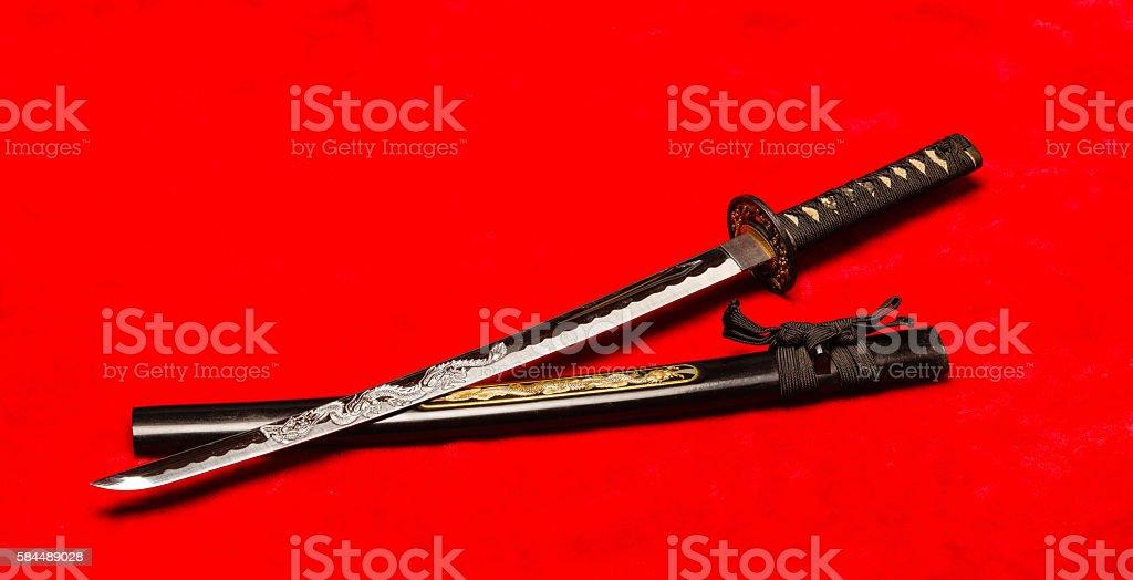 Samurai Wakizashi stock photo