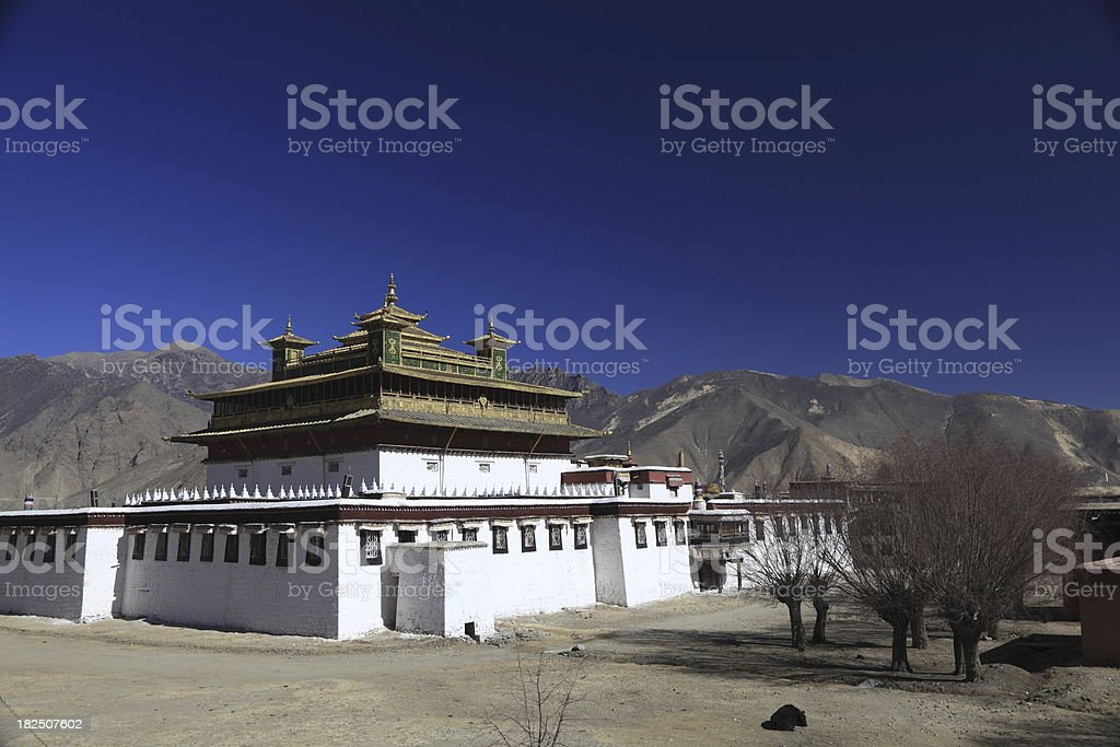 Samye Monastery Tibet stock photo