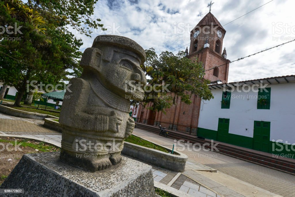 San Agustin in Colombia. stock photo
