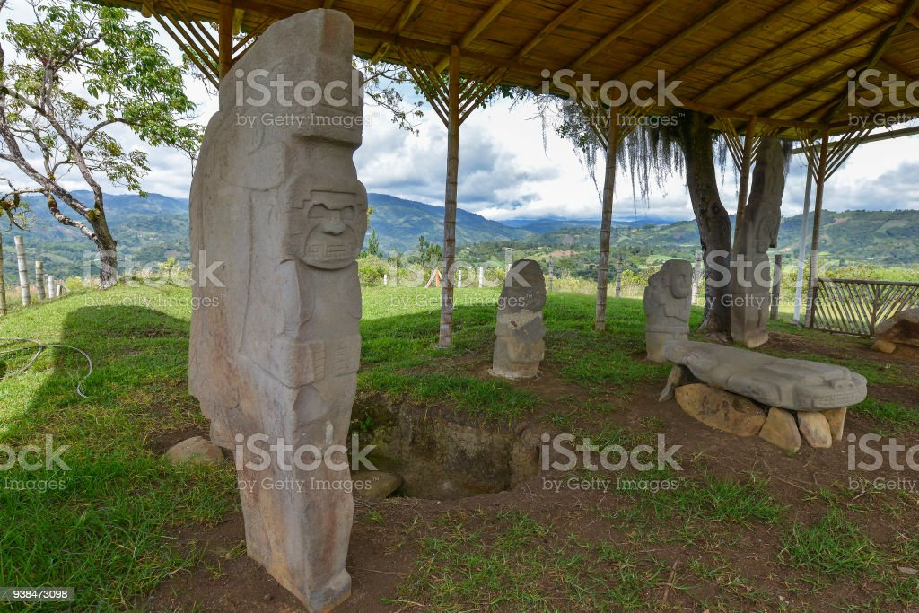 San Agustin in Colombia stock photo