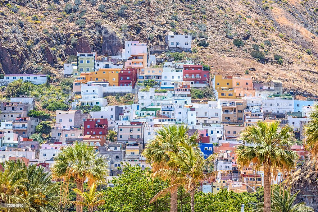 San Andres, small city in Tenerife stock photo