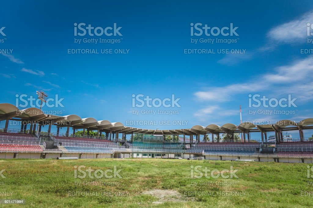 San André's Island Baseball Stadium. Estadio de San Andrés Islas is the not translated name for this Softball Field on the Island. stock photo