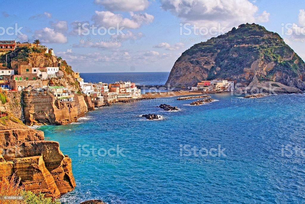 san angelo, on ischia, island in the mediterranean sea, italy, stock photo