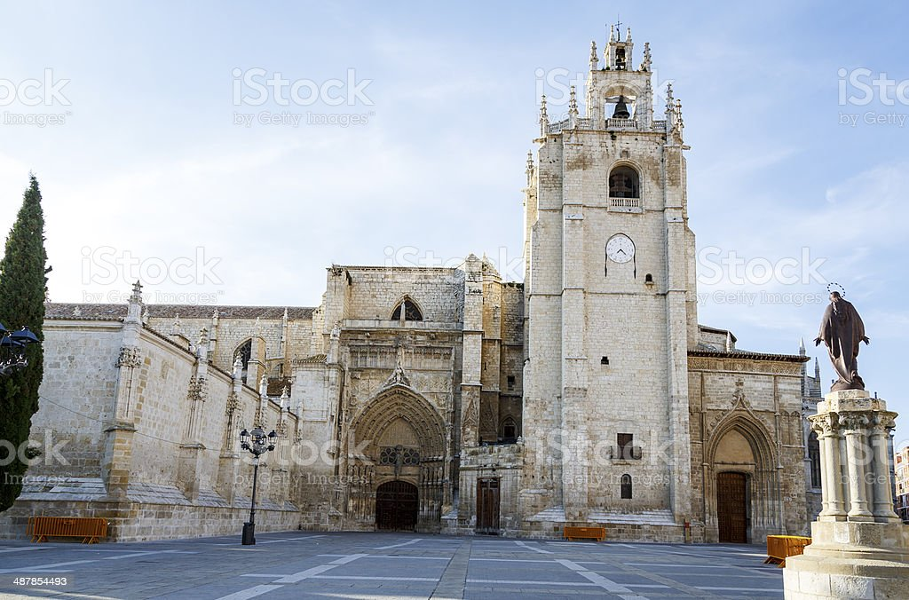 San Antolin in Palencia stock photo