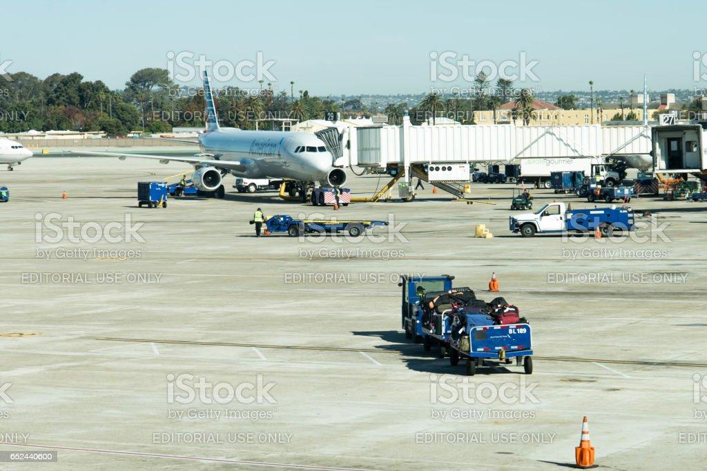 San Antonio airport stock photo
