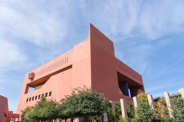 San Antonio Central Public Library Perspective View Day Time stock photo