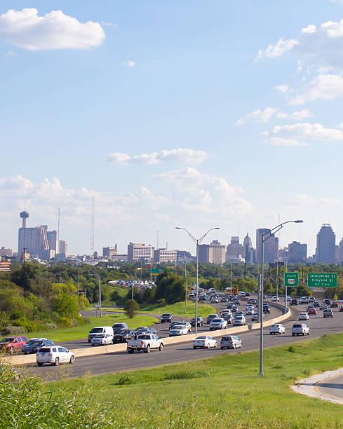 San Antonio City Skyline Day Time stock photo