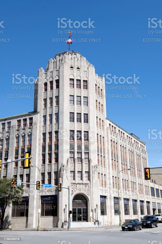 San Antonio, USA - March 14, 2019. San Antonio Express News building...