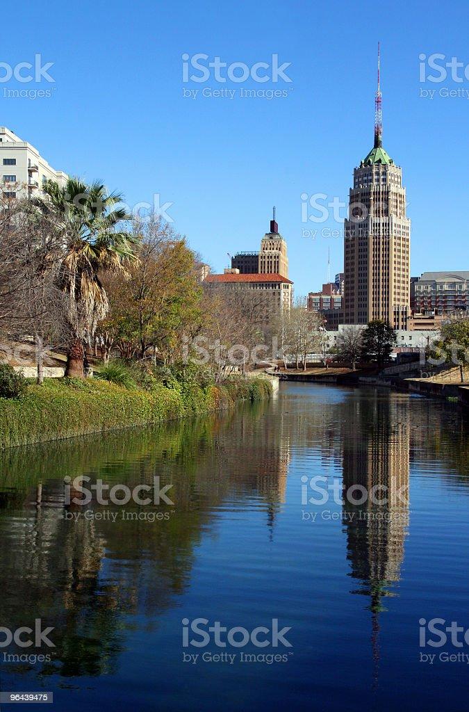 San Antonio Reflection stock photo
