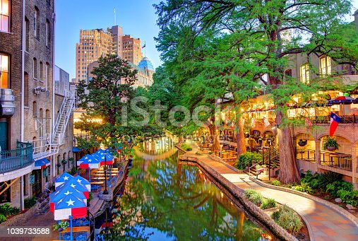 The San Antonio River Walk is a city park and network of walkways along the banks of the San Antonio River, one story beneath the streets of San Antonio, Texas, USA.