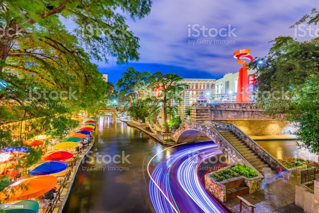 San Antonio River Walk stock photo