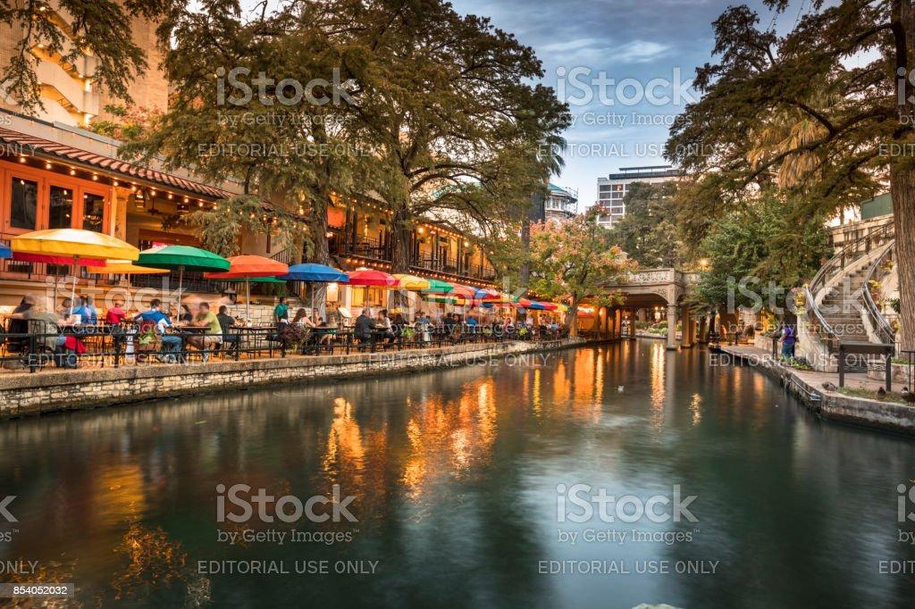 San Antonio Riverwalk canal stock photo