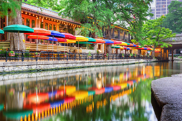 San Antonio Riverwalk San Antonio, Texas, USA cityscape at the Riverwalk. san antonio texas stock pictures, royalty-free photos & images