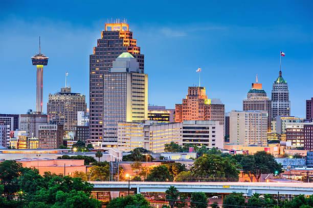 San Antonio Skyline San Antonio, Texas, USA skyline. san antonio texas stock pictures, royalty-free photos & images